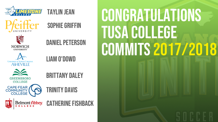 TUSA 2017/2018 College Commits